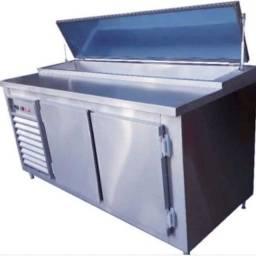 Balcão Refrigerado Aço Inox Condimentado Pizzaiolo  Cozinha Industrial