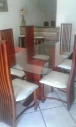 linda mesa luxo 6 cadeiras (faço entrega aceito cartão)