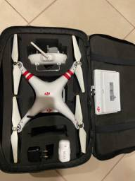 Drone phantom 3 com monito DJI e bolsa para transporte