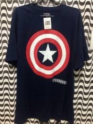 Camiseta Nova do Capitão America - Marvel - Original - importada do EUA