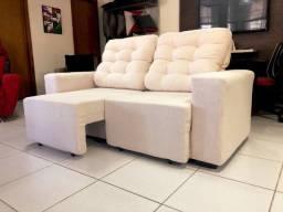 sofa de  2lug - retratil e reclinavel -direto de fabrica 3.390 nos cartoes 4x