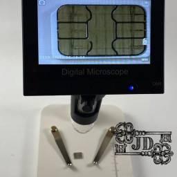 Microscópio digital de bancada