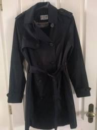 Casaco/ Trench coat/ Sobretudo preto