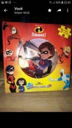 Livro novo os incríveis c 5 quebra-cabeças