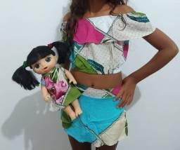 Roupas para meninas + roupa para boneca