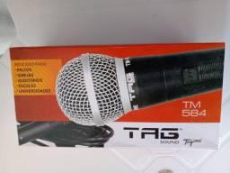 Microfone com fio 5mt