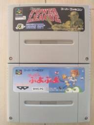 Fitas de super Nintendo japonês originais