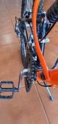 Bike bicicleta 21 marchas,  aro 26 com suspensão dupla.