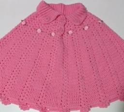 Poncho de lã Infantil novo 3 a 4 anos