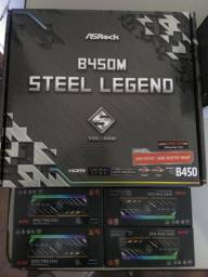 Ryzen 5 3400g + 32gb ram 3000mhz + B450 steel legends + fonte 600w pc gamer