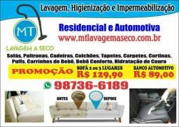 higienização e limpeza de sofá, bancos automotivo, colchões