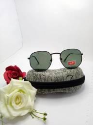 Oculos de sol hexagonal