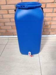 Bombona 60litros azul em polietileno atóxica