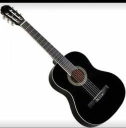 Vendo dois violão amarelo com capa novo mas usado e o preto usado