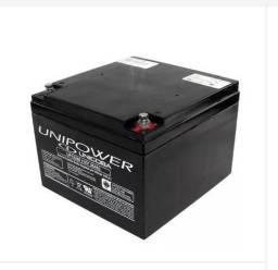 Bateria 12v 26 Ah Unipower Cadeira De Rodas Elétrica Nobreak Jet Sky Painel Solar