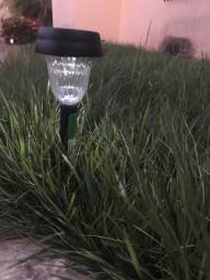 Balizador solar para jardim