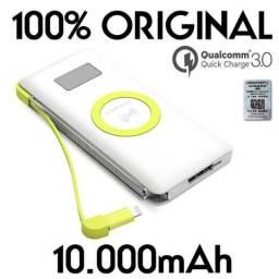 Carregador Portatil Indução Qi Pn 888 10000 Mah 100% Original