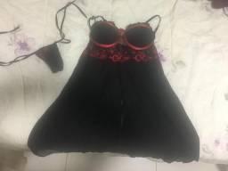 Camisola preta/vermelha P