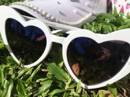 Óculos de sol Love (coração) Branco