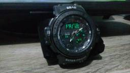 64b7f3b0645 Relógio Sba Black Original A Prova D água