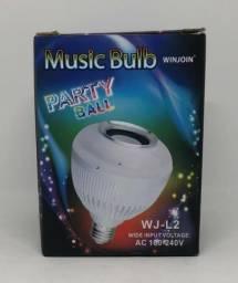 Lâmpada Led Musical Music Bulb Bluetooth 12w Com Controle Nova na Caixa