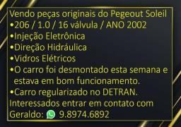 Peças do Pegeout 206 1.0 16 válvulas ano 2002