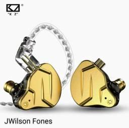 Fone KZ ZSN PRO X - fone de retorno, bateria, baixo