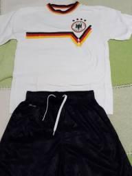 Uniforme camisa alemanha de algodão 6-10 anos