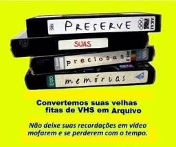 Serviço de Gravação Fita VHS, 8mm e MiniDV para Arquivo