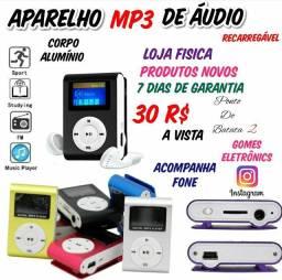 Mp3 Player Portátil- Rádio, Pega Cartão SD 8G ( Produtos Novos )