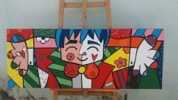 Quadro pintura à óleo sobre tela