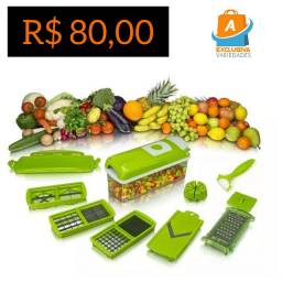 Ralador Picador Fatiador de Legumes Nicer Dicer + Entrega Grátis