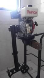 Motor de popa 5 HP Branco Diesel