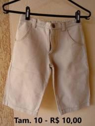 Bermudas Jeans infantil seminova