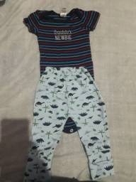 Lote de 3 , 6 e 9 meses menino