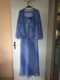 Vestido de festa azul tam M