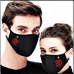 Mascara de proteção flamengo bordada