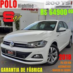 Smart Veiculos - VW Polo Highline 200 TSI 1.0, 18/2018, 25.459 Km. R$ 64.900,00