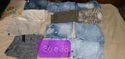 Short tamanho 36 38 por r$ 40 tudo