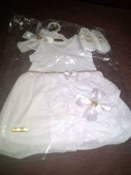 Vestido Novo de batizado. 40,00