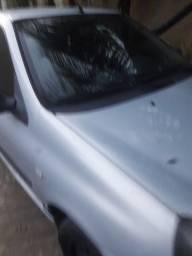 Clio Completo 2004 4 portas Prata (Ar, Direção, Trava e Vidros Eletricos