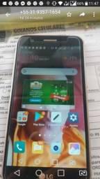 Vendo celular LG K10 seminovo 2018 dourado