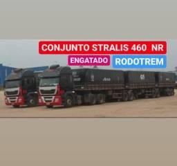 Conjunto Iveco Stralis 6x4 2011 engatado Rodotrem Randon 2009