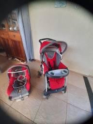 Carrinho e bebê conforto Marca chicco semi novo