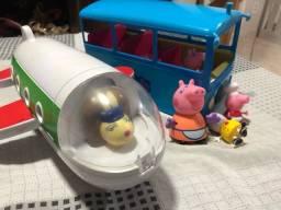 Avião e onibus Peppa pig