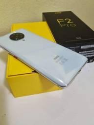 Pocophone F2 Pro 128Gb 6GB branco,Tela 6.67 aceito cartão de crédito NEGOCIÁVEL.