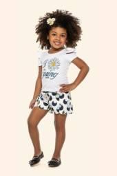 Conjunto Infantil Colorittá Menina Spring Blusa + Short