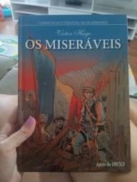 Livro Os miseráveis clássicos da literatura em quadrinhos Victor Hugo