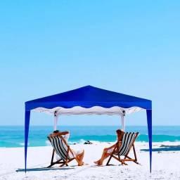 Tenda sanfonada retrátil 3m ×3m gazebo novo azul marinho