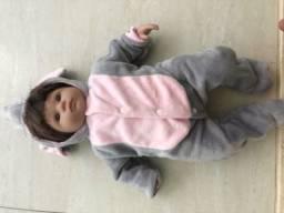 Bebê reborn com roupa de elefante